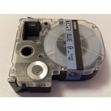 Epson LC-3LBP 9mm * 8m utángyártott szalagkazetta kék alapon fekete nyomtatás