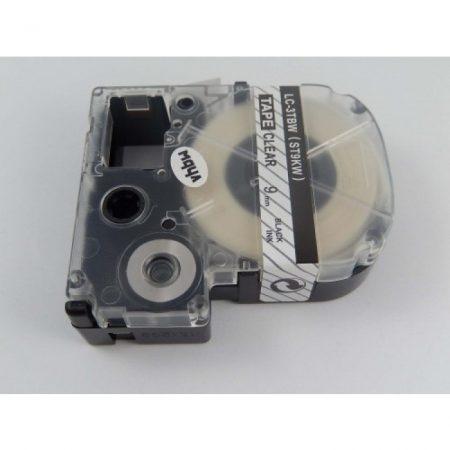 Epson LC-3TBW utángyártott feliratozószalag kazetta 9 mm * 8m átlátszó alapon fekete nyomtatás