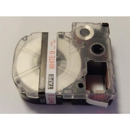 Epson LC-3WRN 9mm * 8m fehér alapon piros utángyártott feliratozószalag kazetta