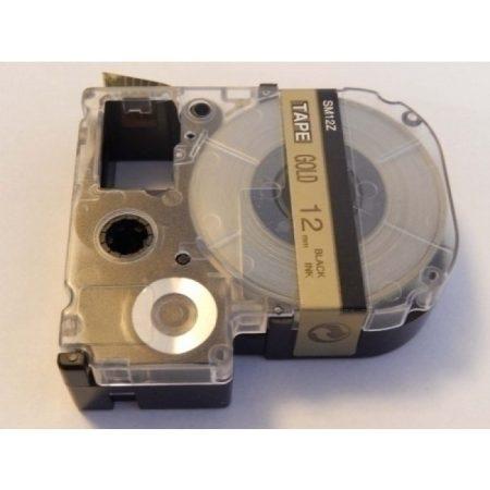 Epson LC-4KBM utángyártott feliratozószalag kazetta 12 mm * 8m arany alapon fekete nyomtatás