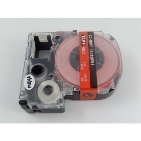 Epson LC-4RWP utángyártott feliratozószalag kazetta 12 mm * 8m piros alapon fehér nyomtatás