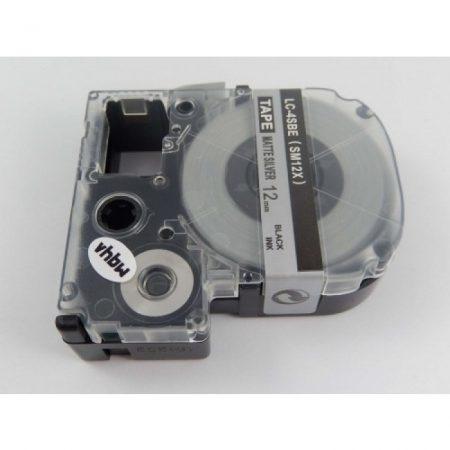 Epson LC-4SBE utángyártott feliratozószalag kazetta 12 mm * 8m ezüst alapon fekete nyomtatás