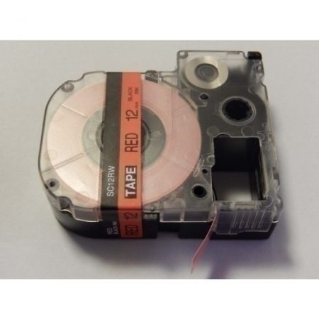 Epson LC-4YRN utángyártott feliratozószalag kazetta 12 mm * 8m piros alapon fekete nyomtatás