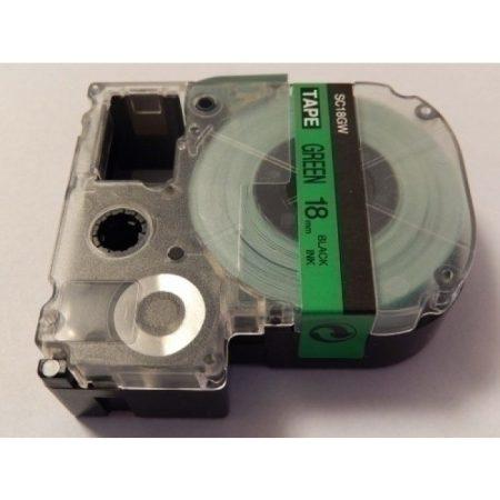Epson LC-5GBP utángyártott feliratozószalag kazetta 18 mm * 8m zöld alapon fekete nyomtatás