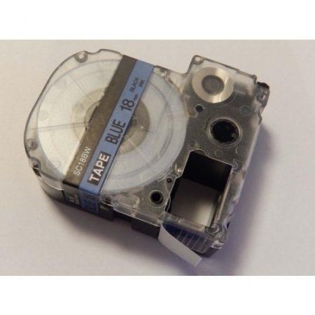 Epson LC-5LBP utángyártott kék alapon fekete 18mm * 8m feliratozószalag kazetta