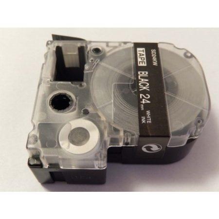 Epson LC-6BWV Fekete alapon Fehér 24mm * 8m utángyártott feliratozószalag kazetta