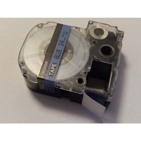 Epson LC-6LBP 24mm * 8m kék alapon fekete nyomtatás utángyártott feliratozószalag kazetta