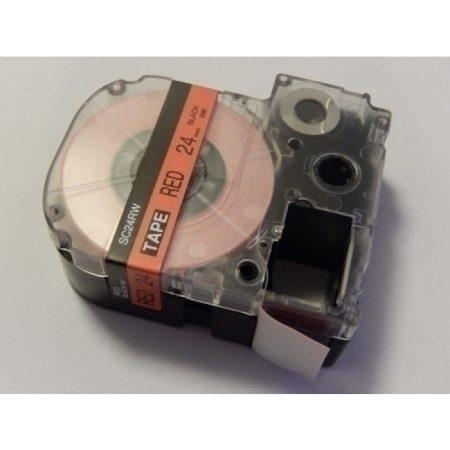 Epson LC-6YRN piros alapon fekete  24mm * 8m feliratozószalag kazetta