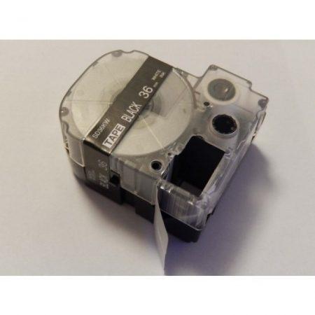 Epson LC-7BMV 36mm * 8m fekete alapon fehér nyomtatás feliratozószalag kazetta utángyártott