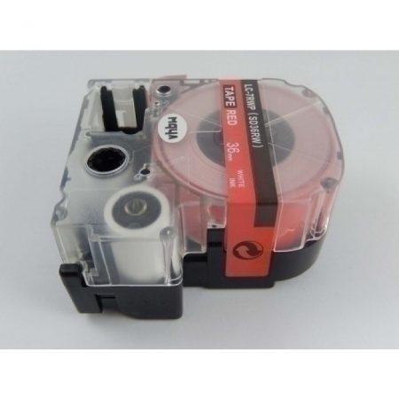 Epson LC-7RWP utángyártott feliratozószalag kazetta 36 mm * 8m piros alapon fehér nyomtatás