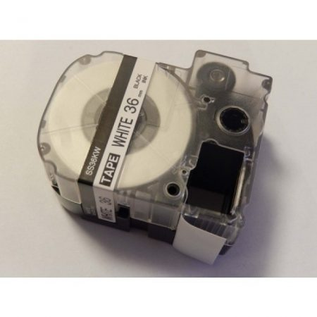 Epson LC-7WBN utángyártott feliratozószalag kazetta 36 mm * 8m fehér alapon fekete nyomtatás