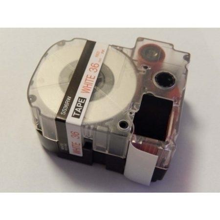 Epson LC-7WRN utángyártott feliratozószalag 36mm * 8m fehér alapon piros