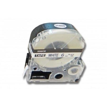 Utángyártott Epson LK-2WBN 6mm*8m fekete-fehér feliratozószalag kazetta