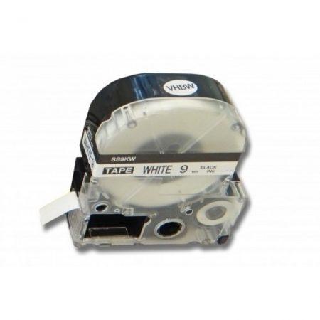 Epson LK-3WBN utángyártott 9mm*8m fekete-fehér feliratozógép-szalag