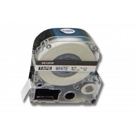 Epson LK-4WBN 12mm utángyártott fekete-fehér feliratozószalag LabelWorks kompatibilis
