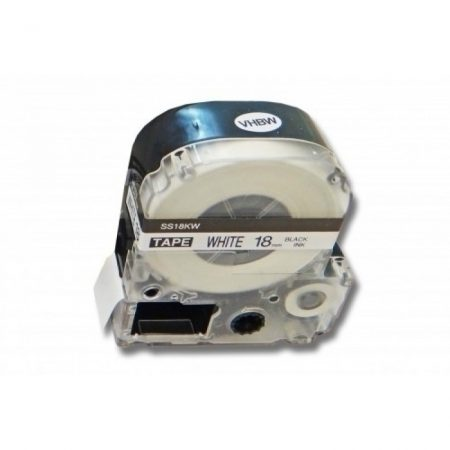 Epson LK-5WBN kompatibilis utángyártott 18mm fekete-fehér Epson LC-5WBN feliratozógépszalag