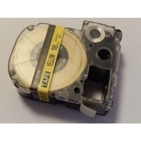 Epson LK-5WBW utángyártott 18mm*8m fekete-sárga feliratozószalag kazetta