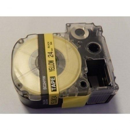 Utángyártott Epson LK-6WBW 24mm*8mm fekete-sárga feliratozószalag