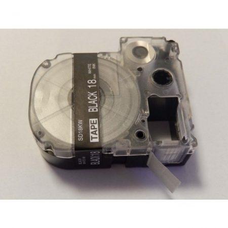 Epson LK-5BWV LC-5BWV kompatibilis utángyártott 18mm * 8m fekete alapon fehér nyomtatás feliratozószalag kazetta