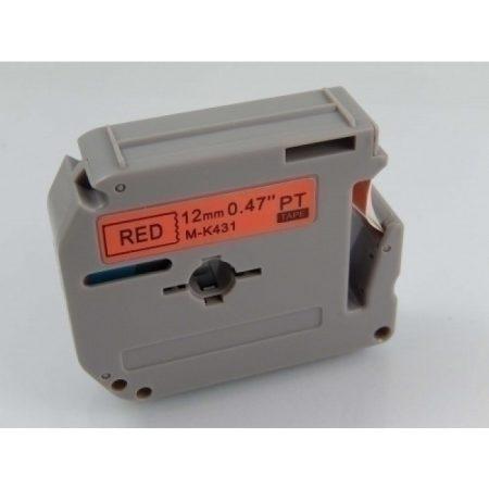 Brother M-K431 12mm * 8m piros alapon fekete utángyártott  feliratozószalag kazetta