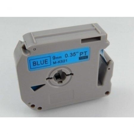 Brother M-K521 utángyártott kék alapon fekete 9mm * 8m feliratozószalag kazetta