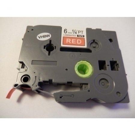 Utángyártott Brother TZE-415 6mm Fehér-Piros 6mm*8mm feliratozógép-szalag kazetta