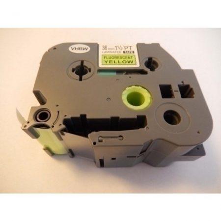Utángyártott Brother P-Touch TZE-C61/TZ-C61 36mm*8m Fekete-Neonsárga feliratozószalag kazetta