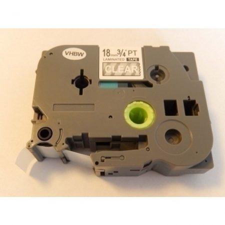 Brother TZe-145 P-Touch utángyártott feliratozószalag kazetta 18mm * 8m átlátszó alapon fehér