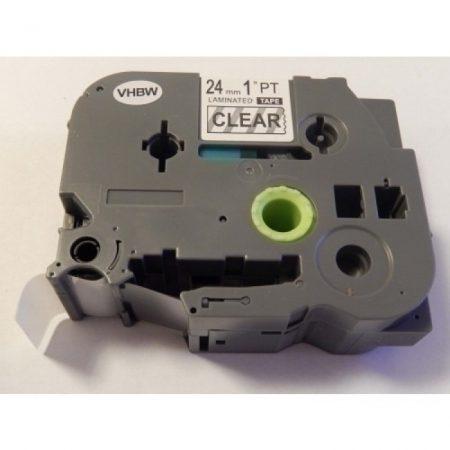Brother TZe-151 P-Touch utángyártott feliratozószalag kazetta 24mm * 8m átlátszó alapon fekete