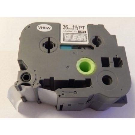 Brother TZe-165 P-Touch utángyártott feliratozószalag kazetta 36mm * 8m átlátszó alapon fehér