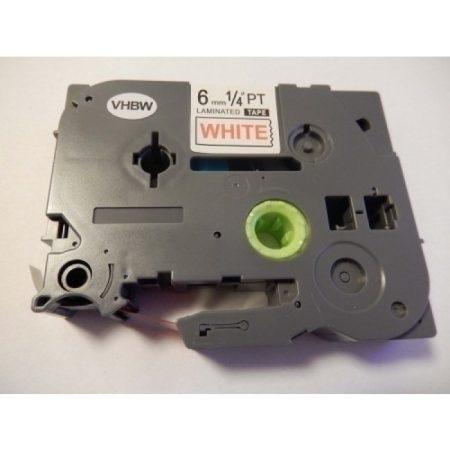 Brother TZe-212 P-Touch utángyártott feliratozószalag kazetta 6mm * 8m fehér alapon piros