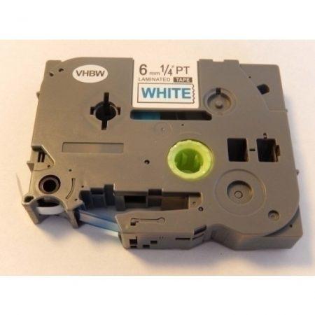 Brother TZe-213 P-Touch utángyártott feliratozószalag kazetta 6mm * 8m fehér alapon kék