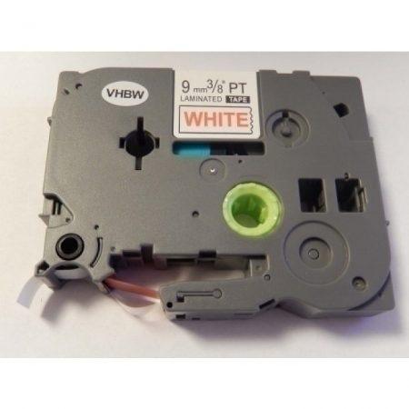 Brother TZe-222 P-Touch utángyártott feliratozószalag kazetta 9mm * 8m fehér alapon piros