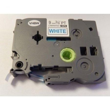 Brother TZe-223 P-Touch utángyártott feliratozószalag kazetta 9mm * 8m fehér alapon kék
