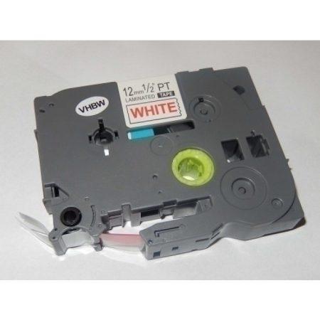Brother TZe-232 P-Touch utángyártott feliratozószalag kazetta 12mm * 8m fehér alapon piros