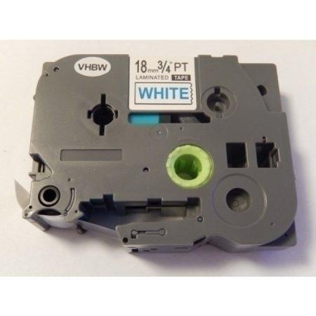 Brother TZe-243 P-Touch utángyártott feliratozószalag kazetta 18mm * 8m fehér alapon kék