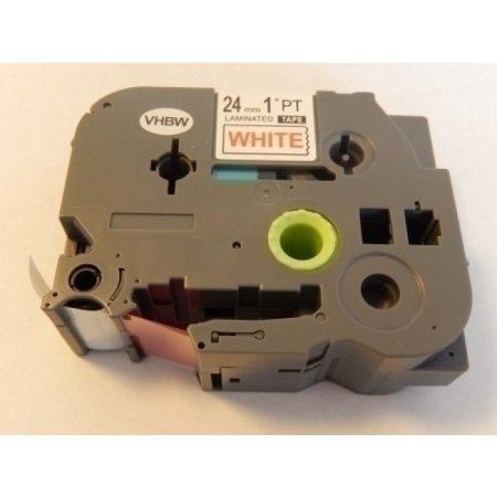 Brother TZe-252 P-Touch utángyártott feliratozószalag kazetta 24mm * 8m fehér alapon piros