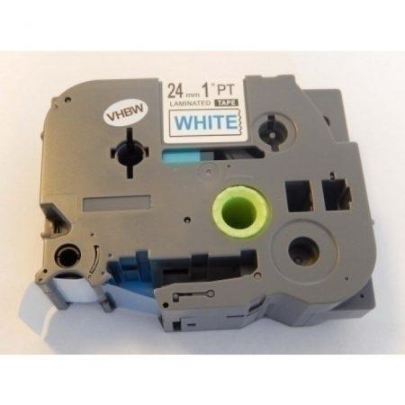 Brother TZe-253 P-Touch utángyártott feliratozószalag kazetta 24mm * 8m fehér alapon kék