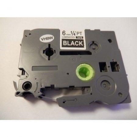 Brother TZe-315 P-Touch utángyártott feliratozószalag kazetta 6mm * 8m fekete alapon fehér