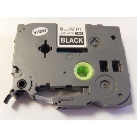 Brother TZe-325 P-Touch utángyártott feliratozószalag kazetta 9mm * 8m black alapon white