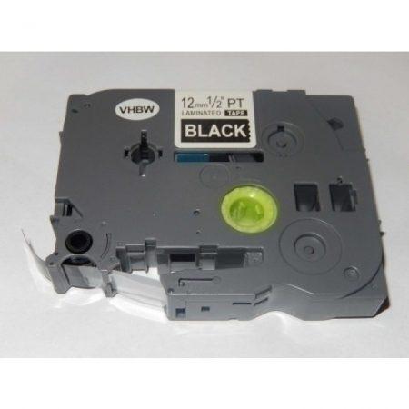 Utángyártott Brother TZE-335 12mm*8m fehér-fekete laminált P-touch szalag
