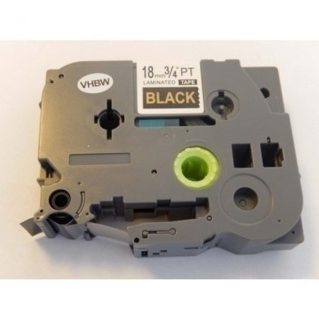 Brother TZe-344 P-Touch utángyártott feliratozószalag kazetta 18mm * 8m fekete alapon arany