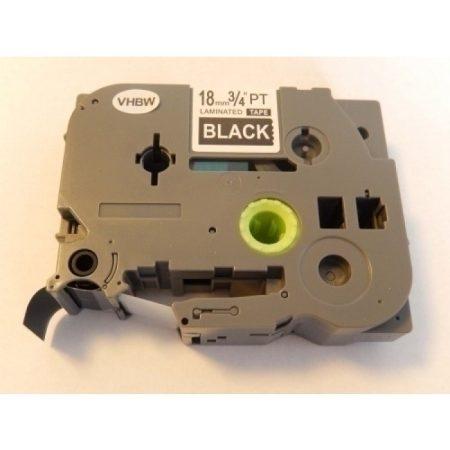 Brother TZe-345 P-Touch utángyártott feliratozószalag kazetta 18mm * 8m fekete alapon fehér