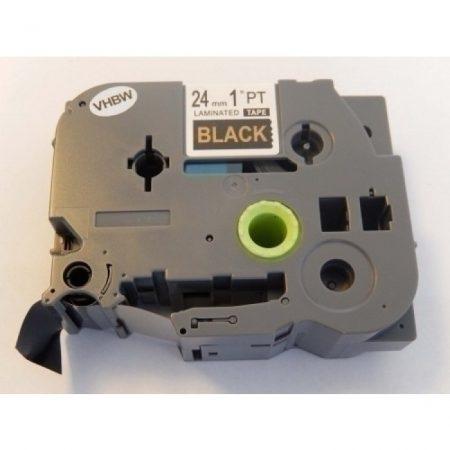 Brother TZe-354 P-Touch utángyártott feliratozószalag kazetta 24mm * 8m fekete alapon arany