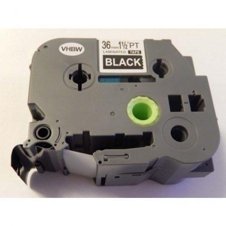 Brother TZe-365 P-Touch utángyártott feliratozószalag kazetta 36mm * 8m fekete alapon fehér