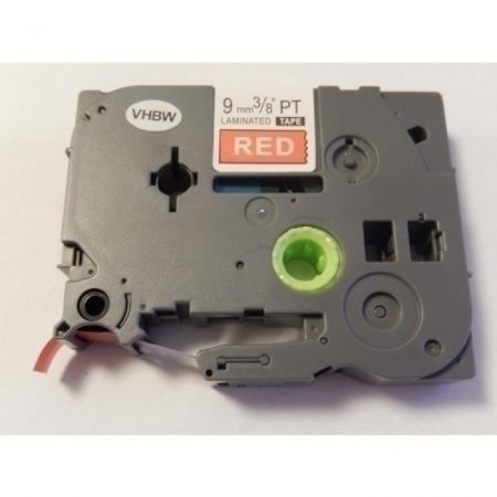 Brother TZE-425 piros alapon fehér nyomtatás utángyártott 9mm * 8m feliratozószalag kazetta