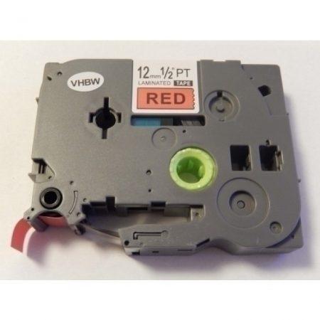 Brother TZE-431 utángyártott 12mm * 8m piros alapon fekete feliratozószalag kazetta