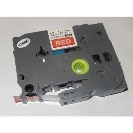 Brother TZe-435 P-Touch utángyártott feliratozószalag kazetta 12mm * 8m piros alapon fehér