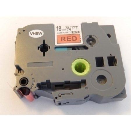 Brother TZe-441 P-Touch utángyártott feliratozószalag kazetta 18mm * 8m piros alapon fekete