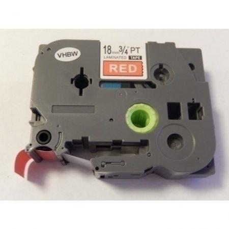 Brother TZe-445 P-Touch utángyártott feliratozószalag kazetta 18mm * 8m piros alapon fehér